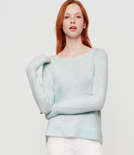 Image of Lou & Grey Boucle Shirttail Sweater