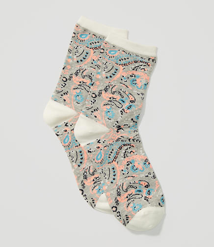 Image of Paisley Crew Socks