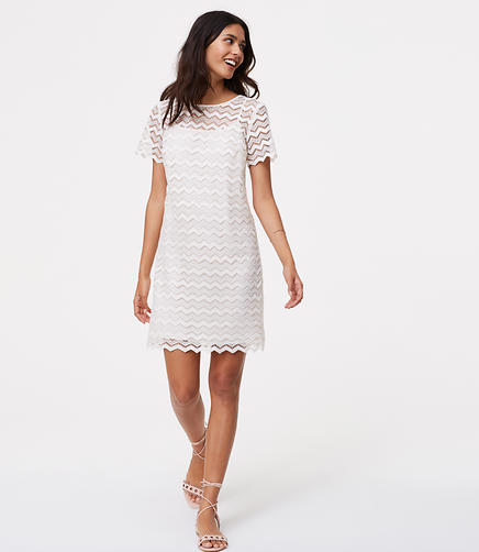 Image of Chevron Lace Shift Dress