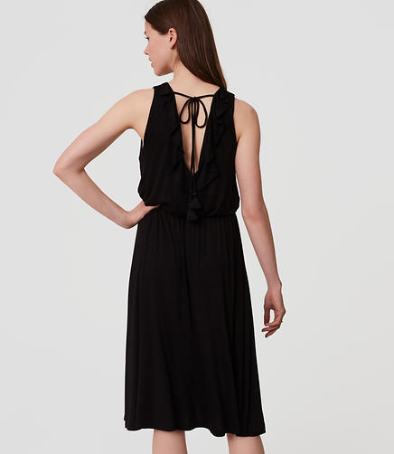 Image of Ruffle Back Dress