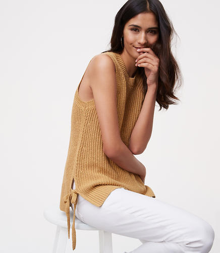 Image of Side Tie Sweater Tank