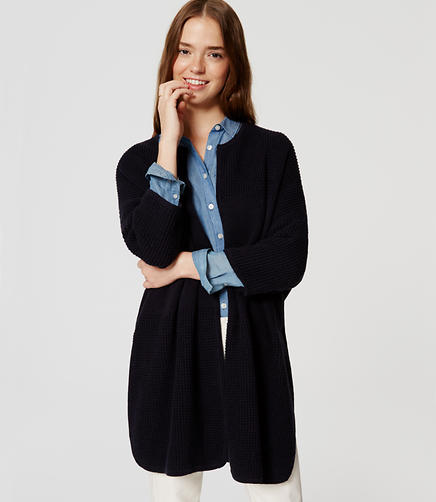 Image of Poncho Open Cardigan