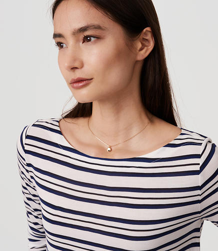 Image of Petite Striped Shirttail Tee