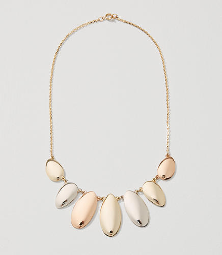 Image of Mixed Metallic Statement Necklace