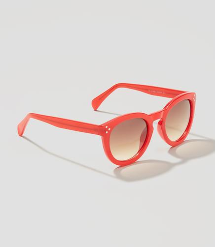 Image of Tortoiseshell Print Round Sunglasses
