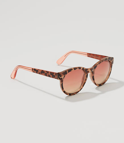 Image of Cheetah Print Round Sunglasses