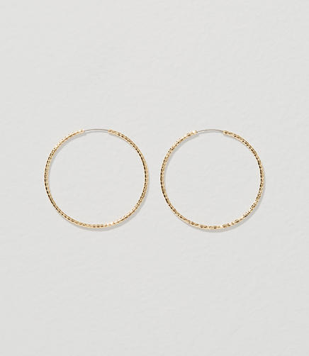Image of Deco Hoop Earrings