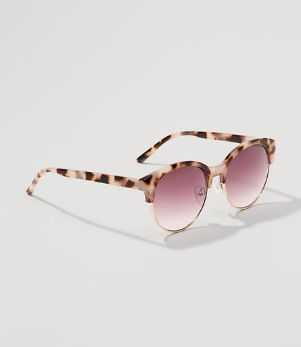 Image of Tortoiseshell Print Retro Sunglasses