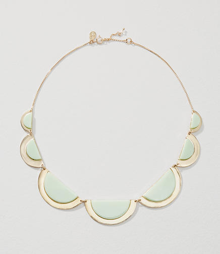 Image of Stone Half Circle Necklace