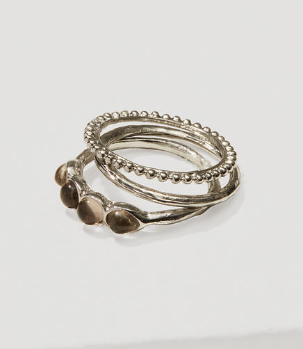 Image of Dot Stone Ring Set