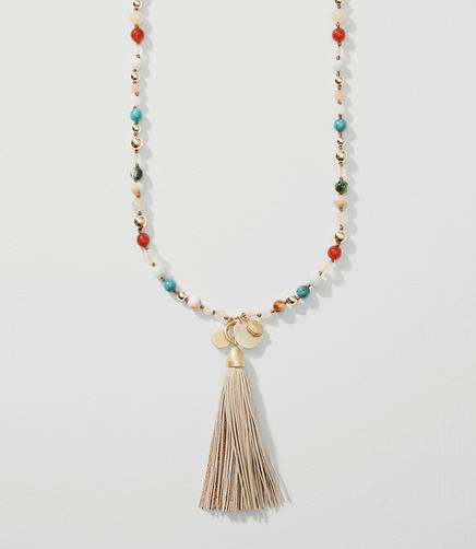 Image of Colorful Tasseled Necklace