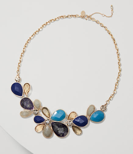 Image of Floral Crystal Drop Necklace