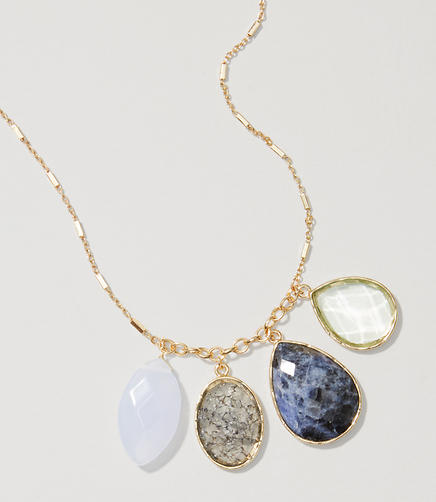Image of Multifaceted Drop Pendant Necklace
