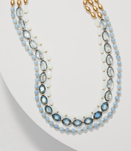 Image of Blue Sky Multistrand Necklace