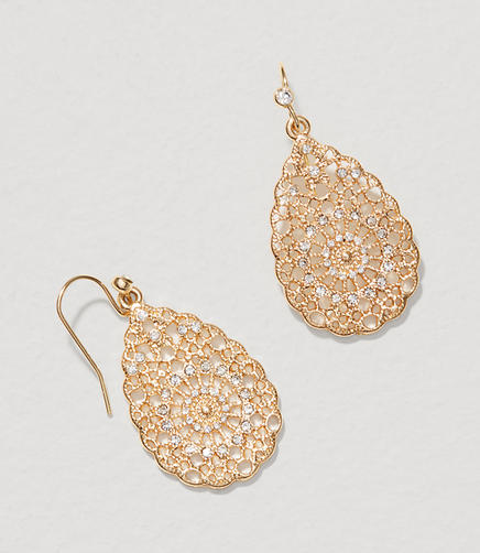 Image of Crystal Filigree Drop Earrings