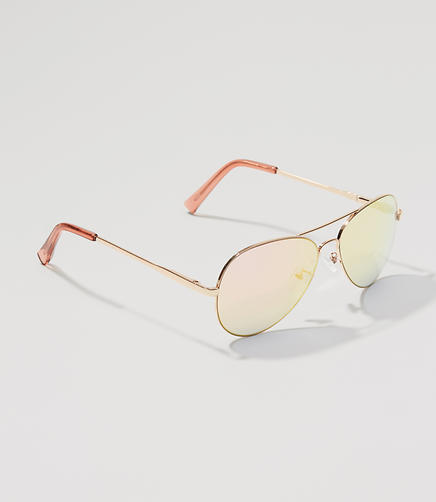 Image of Mirrored Aviator Sunglasses