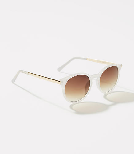 Image of Two Tone Round Sunglasses