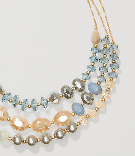Image of Pearlized Multistrand Necklace
