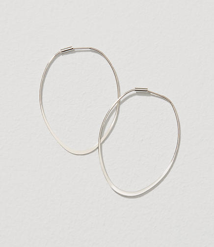 Image of Linear Hoop Earrings
