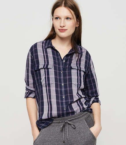 Image of Lou & Grey Plaid Boyfriend Tunic