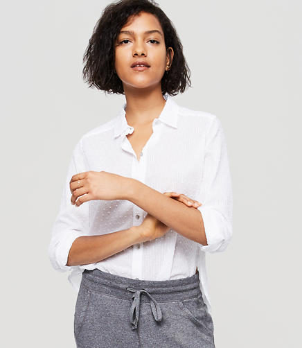 Image of Lou & Grey Dobby Stripe Button Down Shirt