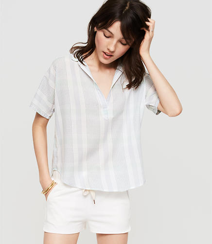 Image of Lou & Grey Short Sleeve Pop On Shirt