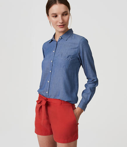 Image of Tie Waist Shorts