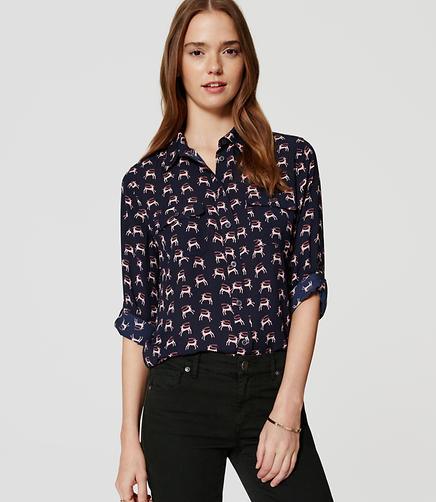 Image of Reindeer Utility Blouse