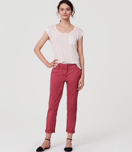 Image of Petite Cropped Skinny Chinos
