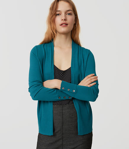 Image of Button Cuff Open Cardigan