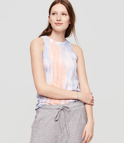 Image of Lou & Grey Tie Dye Softserve Cotton Racerback