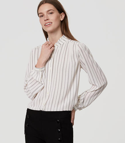 Image of Loveline Ruffle Neck Blouse
