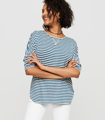 Image of Lou & Grey Striped Signaturesoft Dropshoulder Tee