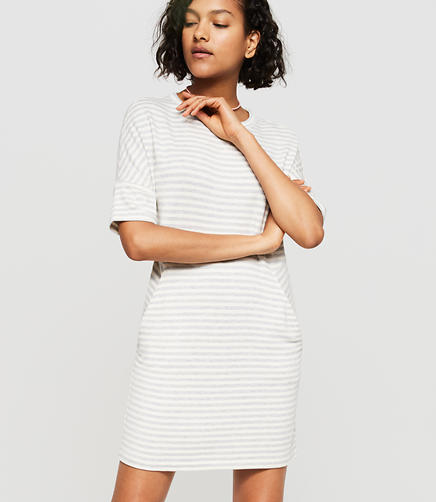 Image of Lou & Grey Striped Signaturesoft Dropshoulder Dress