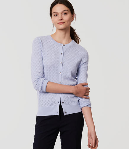Image of Petite Pointelle Signature Cardigan
