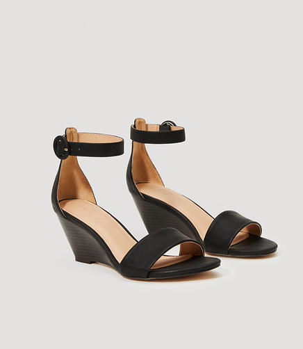 Image of Ankle Strap Wedge Sandals