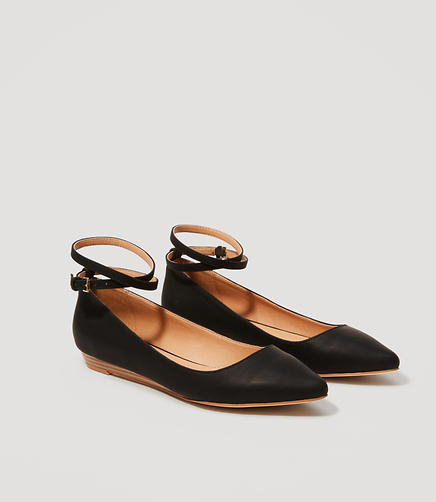 Image of Wrap Around Ankle Strap Flats