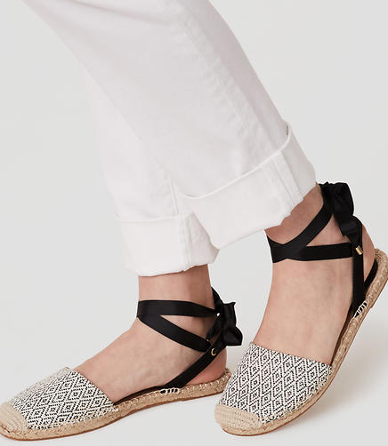 Image of Diamond Ankle Tie Espadrilles