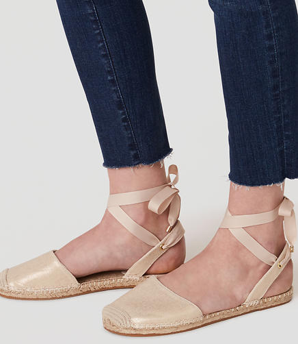 Image of Ankle Tie Espadrille Flats