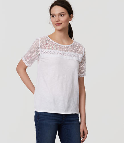 Image of Fringe Lace Yoke Tee
