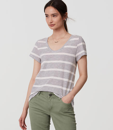 Image of Mixed Stripe Vintage Soft Tee