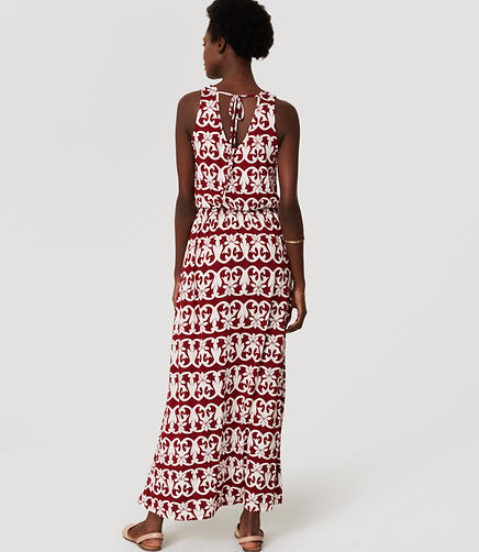 Image of Petite Vineyard Stripe Tie Back Maxi Dress