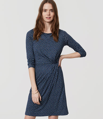 Image of Petite Mosaic Long Sleeve Dress
