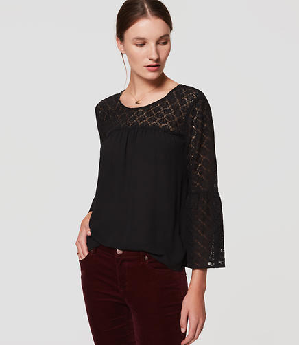 Image of Lace Bell Sleeve Blouse