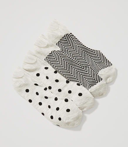 Image of Chevron & Dot No Show Sock Set