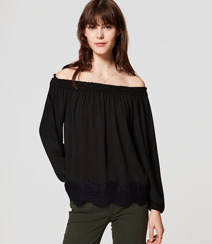 Image of Lacy Off The Shoulder Blouse