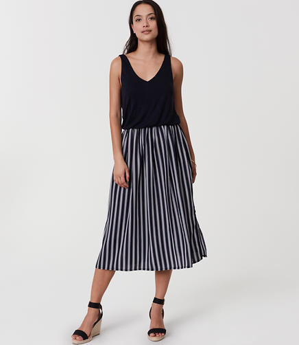 Image of Petite Striped Duet Dress