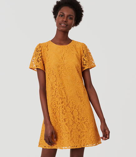 Image of Petite Flutter Lace Dress