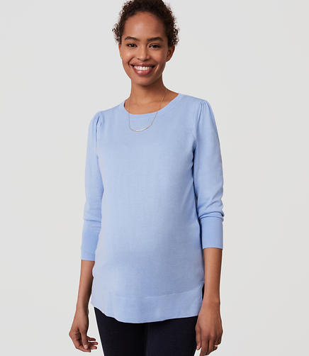 Image of Maternity Puff Sleeve Sweater