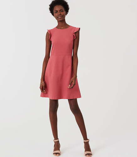 Image of Petite Flutter Flare Dress